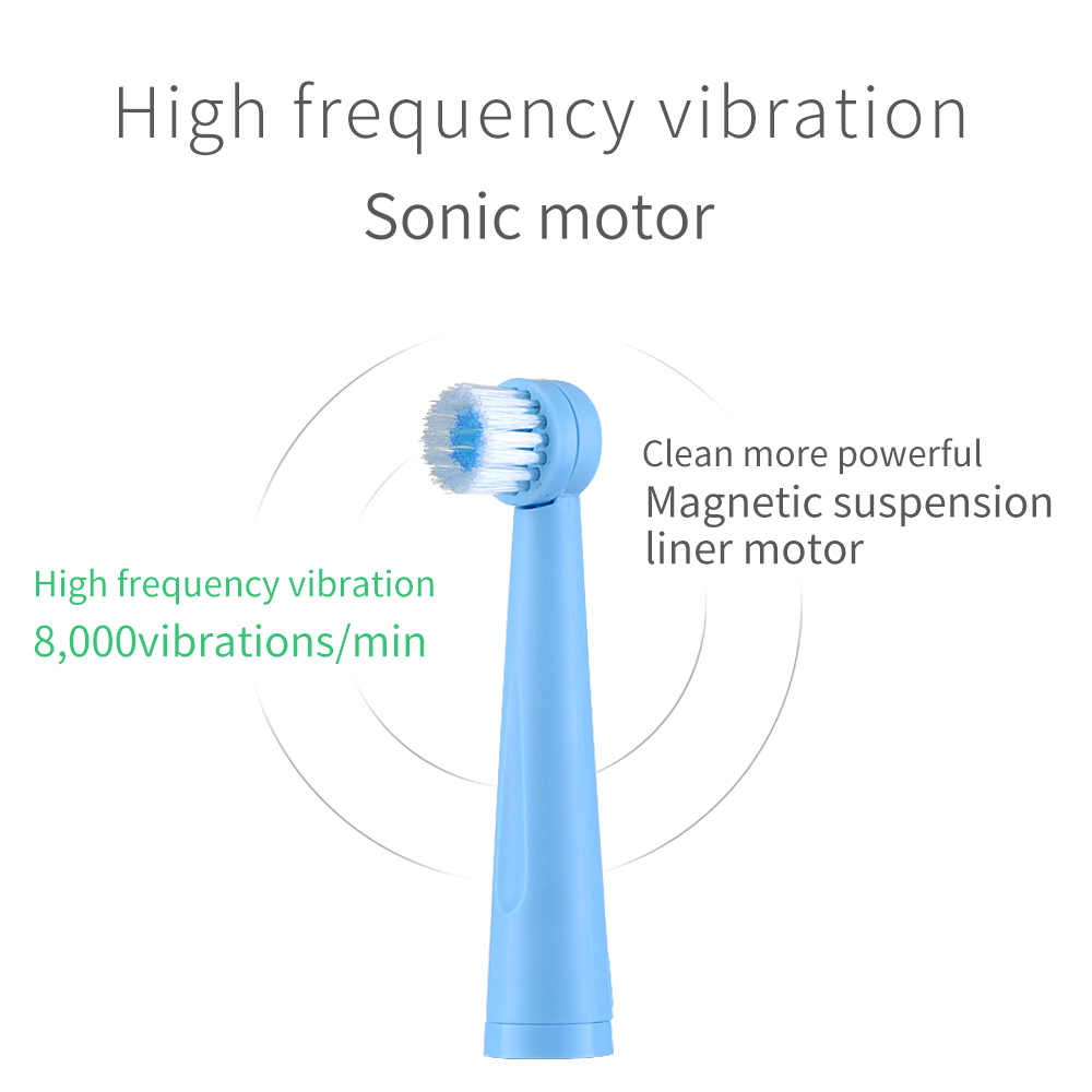 Here Mega Rotating Electric Toothbrush USB Rechargeable Adult Toothbrush Heads Replacements Whitening Smart waterproof