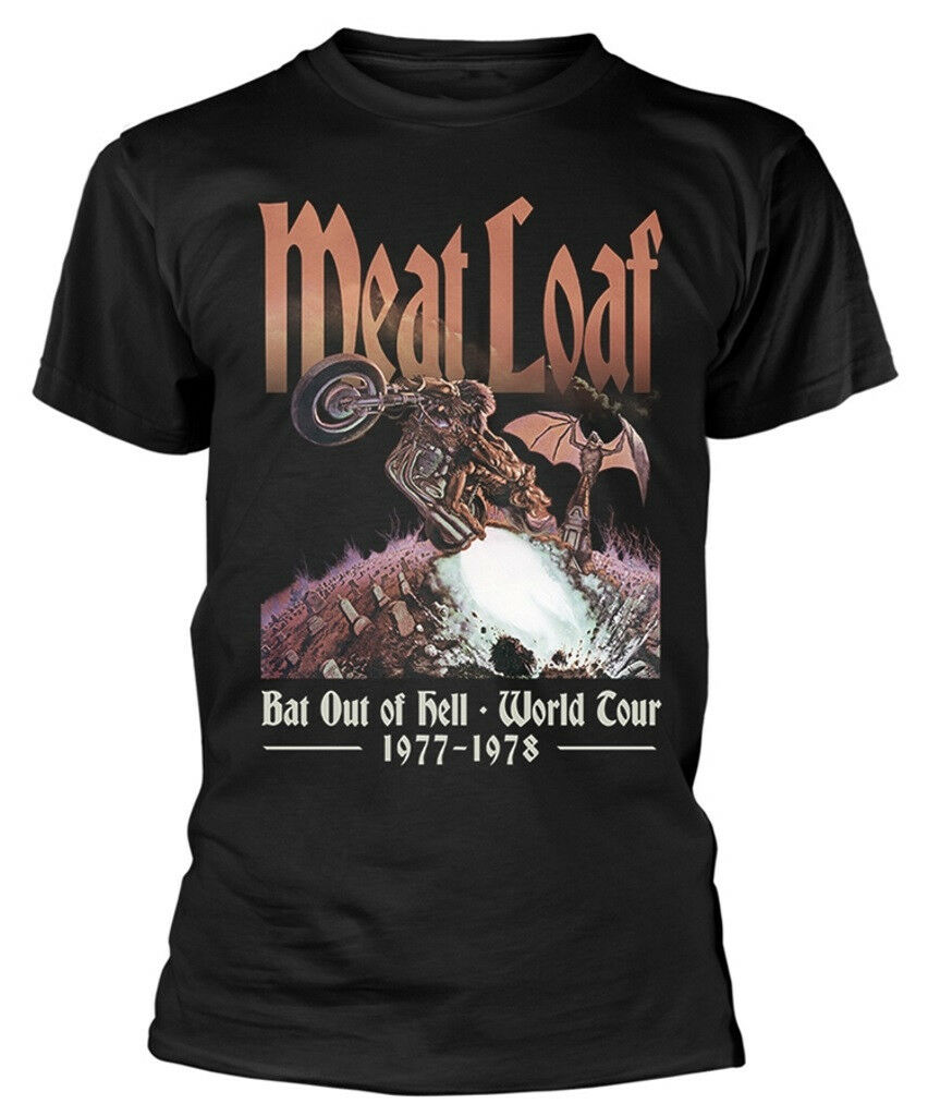 Meat Loaf 'Bat Out Of Hell' T-Shirt - NEW & OFFICIAL 2019 fashion t shirt 100% cotton tee shirt tops wholesale tee 2019 hot tees image