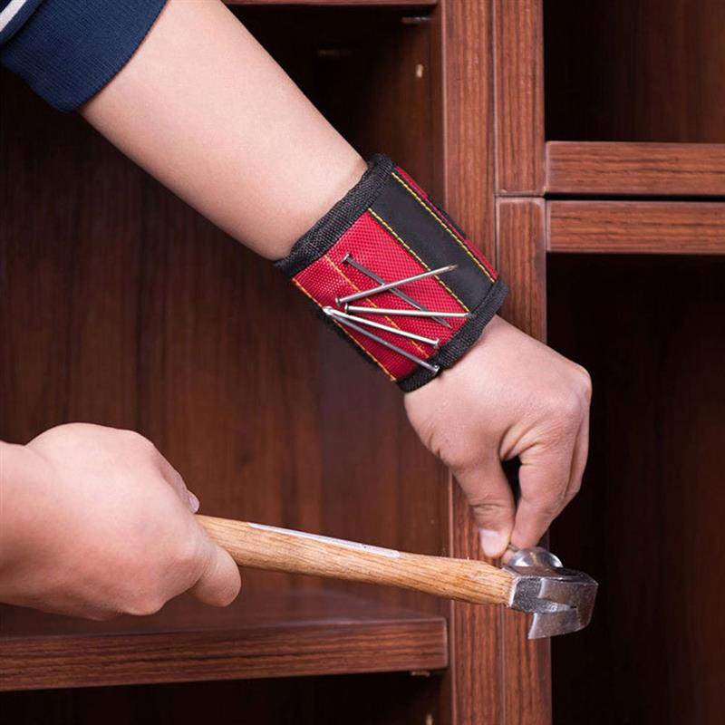 Magnetic Wristband Oxford Cloth Tool Hand Wrist Band Belt For Holding Screws Nails Drill Bits DIY Handyman Woodworker