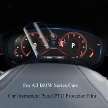 Car Instrument Panel PTU Protector Film For BMW 1 2 3 5 6 7 Series X1 X3 X5 X6 528 5GT 6GT Nanometer HD Anti-Fingerprint Sticker car styling refit accelerator oil footrest pedal plate clutch throttle brake treadle for bmw 5 5gt 6 7 series x3 x4 x5 x6 z4 lhd