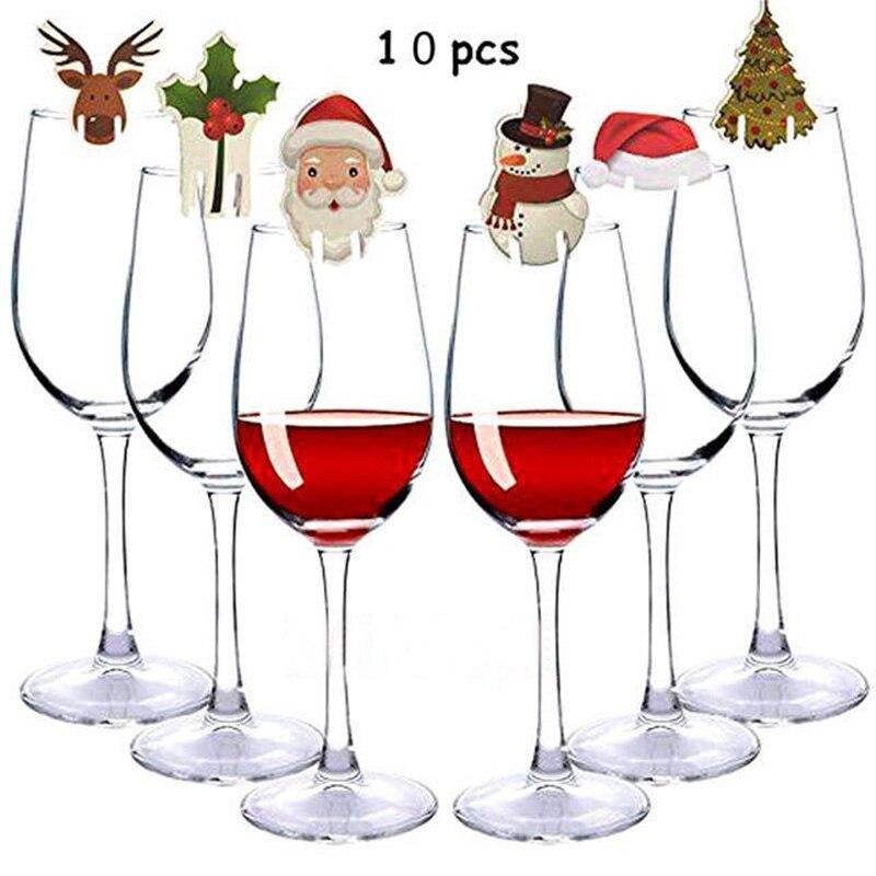 10 шт., рождественские украшения для дома, гирлянда, Рождество, счастливый новый год, вечерние, ужин, зубочистка, флаг, украшения для блюд, kerst ...