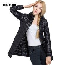 7xl New Winter Ultralight 90% White Duck Down Coat Women Feather Outerwear Slim Hooded Long Down Parka Warm Coats Goose Feather цены онлайн