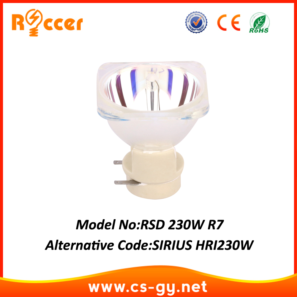 Roccer 230W 7R replacement for GENERAL SIRIUS HRI 230W moving <font><b>beam</b></font> <font><b>230</b></font> 75% of ORIGINAL 7R 230W LAMP R7 lamp image