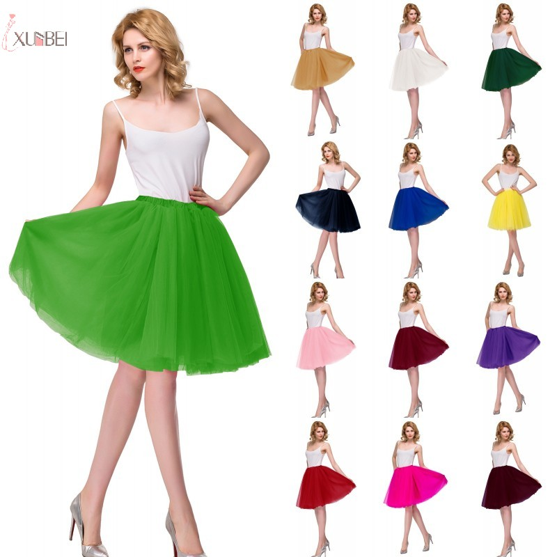 Hoopless Short Wedding Petticoat Crinoline Rockabilly Tulle Underskirt Woman Tutu Skirt Half Slips Bridal Accessories 2020