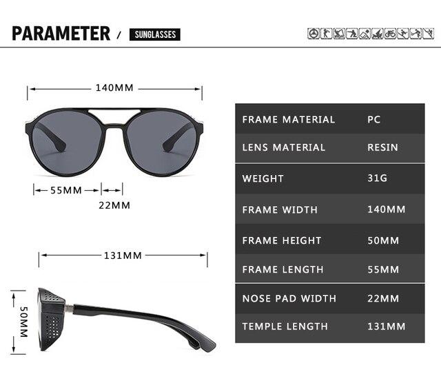 2021 Steampunk gafas de sol de las mujeres hombres Retro gafas redondo abatible hacia arriba conducción gafas Steampunk moda Vintage gafas de sol 4
