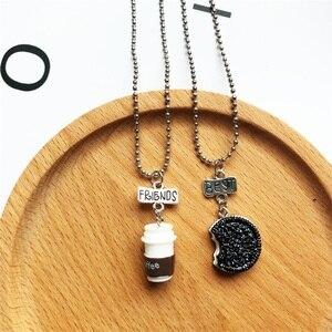 2 шт./компл. модное ожерелье Oreo с кулоном из смолы и кофе, молочное печенье BFF, мужские и женские лучшие друзья, подарки, брелок