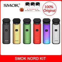 Original SMOK Kit com Bateria Embutida + Bobinas Nord + pod Pod 3ml Para nord smok Cigarro Eletrônico vape kit vs smok novo vape kit