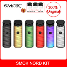 Original SMOK Nord Kit with Built-in Battery+Coils+Pod 3ml For Electronic Cigarette smok nord pod vape kit vs smok novo vape kit original smok novo 2 pod vape kit smok novo kit cobra covered vape pen kit 450mah battery 2ml capacity pod system kit to vape