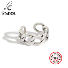 925 Sterling Silver Rings For Women Korean Chain Resizable H