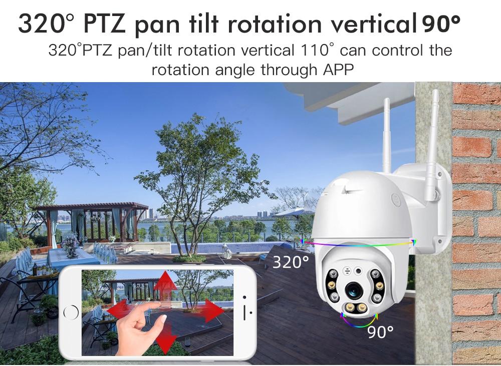 Hf7d892f4d8f14a74ac6fd22d58872626N SDETER 1080P PTZ Security WIFI Camera Outdoor Speed Dome Wireless IP Camera CCTV Pan Tilt 4X Zoom IR Network Surveillance 720P