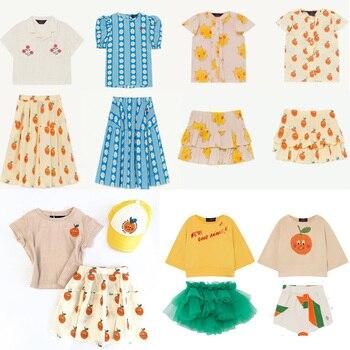 Ropa de bebé para niñas marca TAO, camisa con volantes, falda tutú, blusa con botones de Saturno para niños, conjunto de ropa de fiesta para niño niña