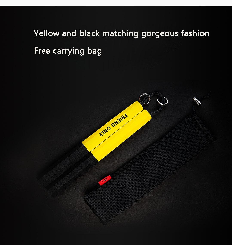 Youpin nunchuck artes marciais preto amarelo macio
