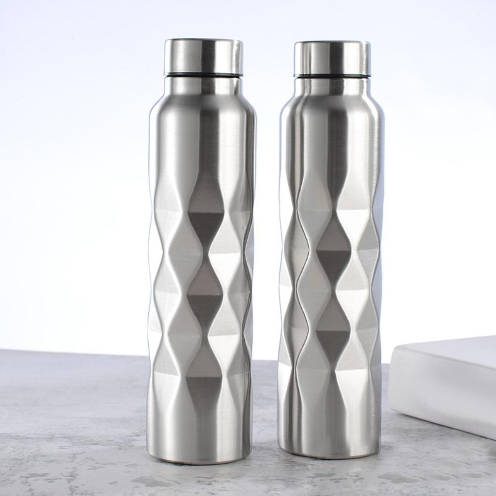 1000ml Rhombus Stainless Steel Large Capacity Outdoor Sports Cycling Water Bottle Sports Cycling Water Bottle Cup Water BottleCu