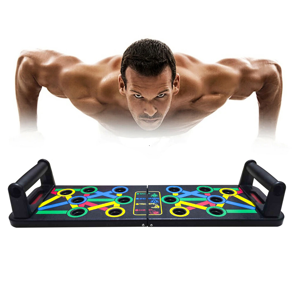 14 in 1 <font><b>Push</b></font>-<font><b>Up</b></font> Rack Board Training <font><b>Sport</b></font> Workout Fitness Gym Equipment Board for Body ABS Abdominal Muscle Building Exercise image