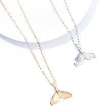 Novo design animal moda feminina colar baleia cauda peixe náutico charme sereia caudas colares jóias