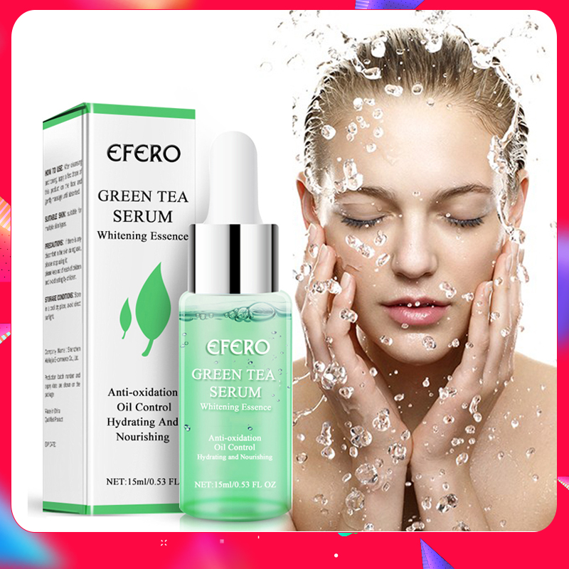 EFERO Green Tea Serum Collagen Peptides Serum AntiAging Wrinkle Lift Firming Whitening Face Cream Moisturizing Essence Skin Care