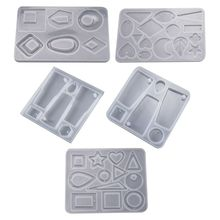 5 Pcs/set Irregular Earring Pendant Jewelry Making Accessories Silicone Mold Set DIY Crystal Epoxy Molds