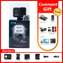 Original GoPro HERO 8 Black Action Camera Go Pro Waterproof Sport Action Camera 4K Ultra HD Video 1080p Portable Live Streaming cheap GP1 Chip SONY IMX377 (1 2 3 12 MP) About 12MP GoPro Hero8 Black 2 0 Waterproof Hidden 1 2 3 inches 151g-200g For Home