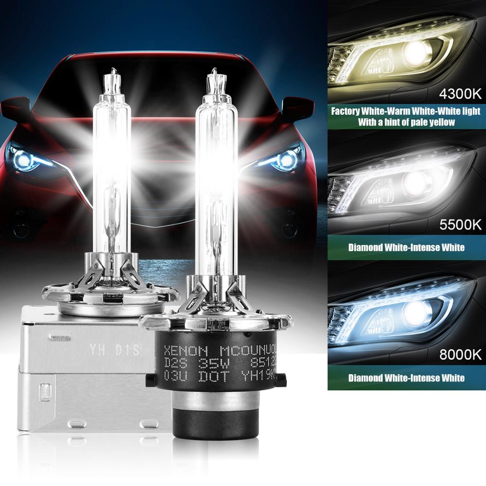 Купить с кэшбэком 2PCS D1S D2R D2S D3S D4S D4R 4300K 5500K Car Headlights HID Bulb Lamp Xenon For Lexus IS250 IS350 F GS300 GS350 GS450/H GS460