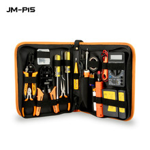 17 in 1 네트워킹 수리 도구 rj45 rj11 rj12 cat5 cat5e 휴대용 lan 네트워크 수리 도구 키트 utp 케이블 테스터 rimping pliers t