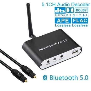 Digital 5.1 EU Audio Decoder Dolby DTS/AC3 Audio Converter Gear LPCM To 5.1 Analog Sound Audio Adapter Amplifier Converter фото