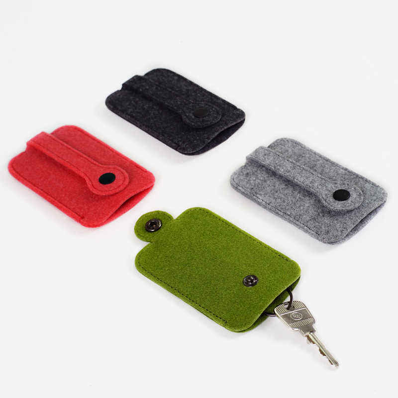 2019 gorący samochód portfel na klucze torebka mężczyźni kobiety wełniany filc brelok do kluczy kieszeni organizer do kluczy etui torba