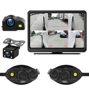 Cámara grabadora dvr Zhidao Fk6 para coche, cámara de espejo lateral y pantalla de 7 pulgadas, sistema de monitoreo para coche