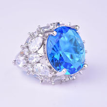 Женские 925 серебро высокого качества циркон кольцо подарок