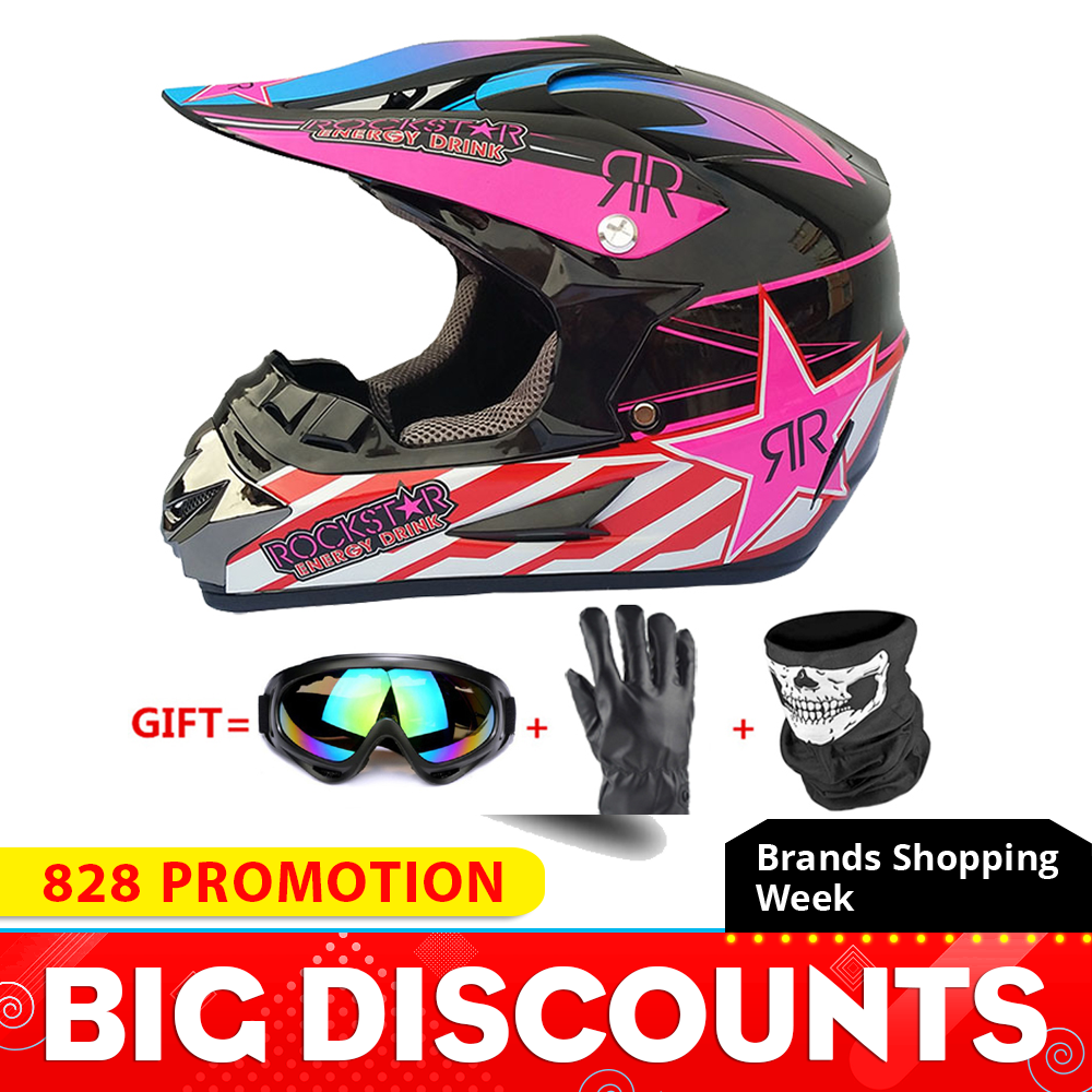 Motorcycle Full Face Helmet Casco Moto Motocross Helmet Off Road Helmet ATV Dirt Bike Downhill MTB DH Capacete Moto Glasses