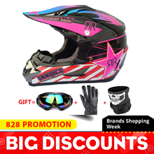 Motorcycle Full Face Helmet Casco Moto Motocross Helmet Off Road Helmet ATV Dirt Bike Downhill MTB DH Capacete Moto Glasses