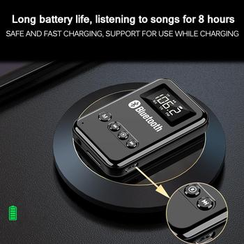 Bluetooth 5.0 Receiver Transmitter Stereo Music Car FM Transmitter Headphones Speakers Adapter Supporting TF Card image