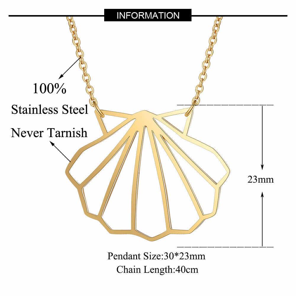 100% prawdziwe ze stali nierdzewnej pusta na morze naszyjnik z muszelek niesamowity Design specjalny prezent włochy projekt moda zwierząt wisiorek naszyjniki