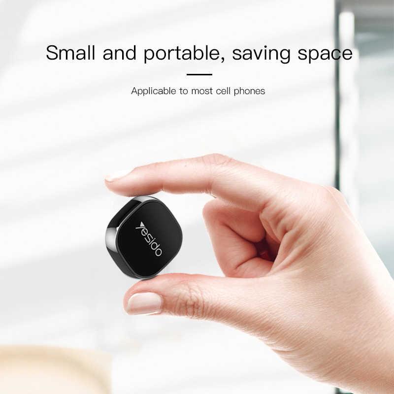 Yesido C81 ミニ磁気自動車電話ホルダー iphone × サムスン Xiaomi 金属ラウンドマグネットスタンド GPS 車マウントダッシュボードのための壁
