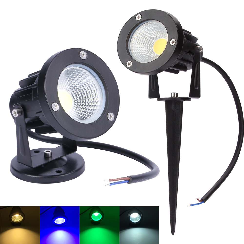 220V 110V Outdoor Lighting LED Lawn Lamp Landscape Lights Waterproof 3W 5W 7W 9W IP65 Spike COB Light For Garden Spot Bulbs