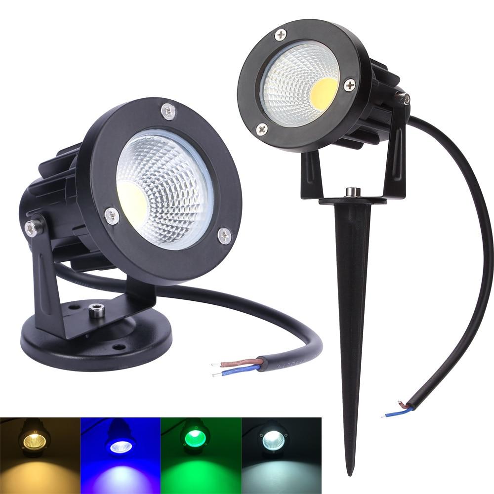 220V 110V Outdoor Lighting LED Lawn Lamp Landscape Lights Waterproof 3W 5W 7W 9W IP65 Spike COB Light For Garden Spot Bulbs