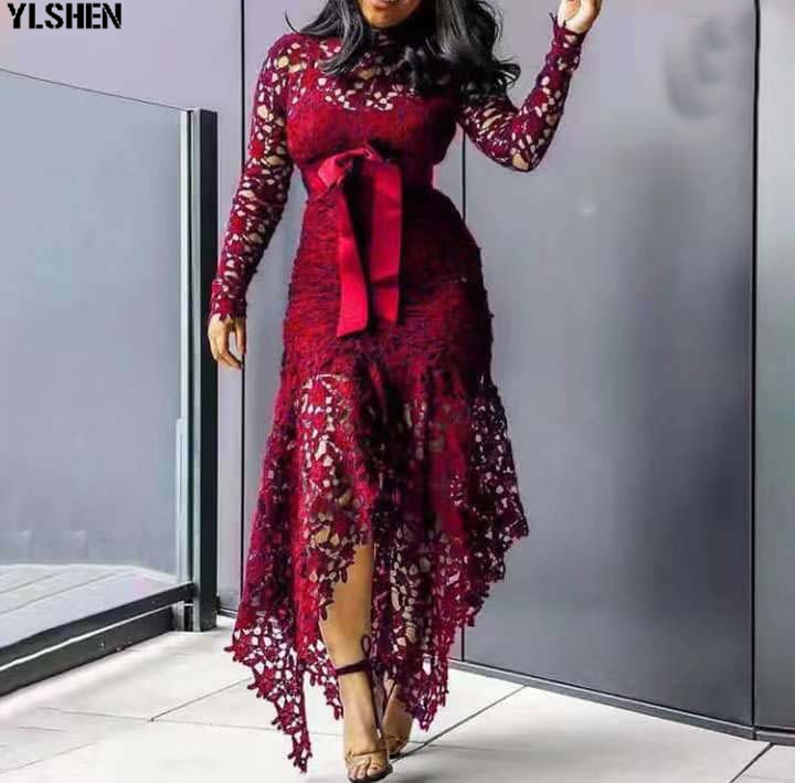 M-4XL African Dresses For Women Long Lace Africa Dress African Clothes New Style Plus Size Dashiki Bazin Robe Africaine Clothing