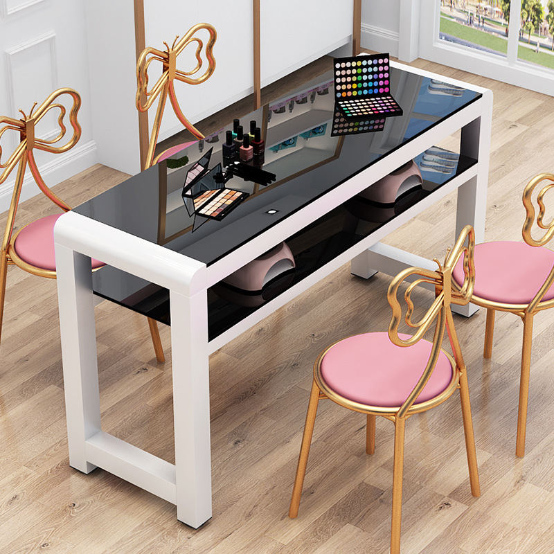 Manicure Table Minimalist Modern Double Table And Chair Set Online Celebrity Manicure Table Special Offer Economical Single Pers