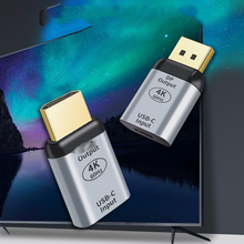USB نوع C الإناث إلى HDMI متوافق DisplayPort موانئ دبي الذكور محول 4K 60Hz لأجهزة الكمبيوتر المحمول الهاتف USB C محول تحويل