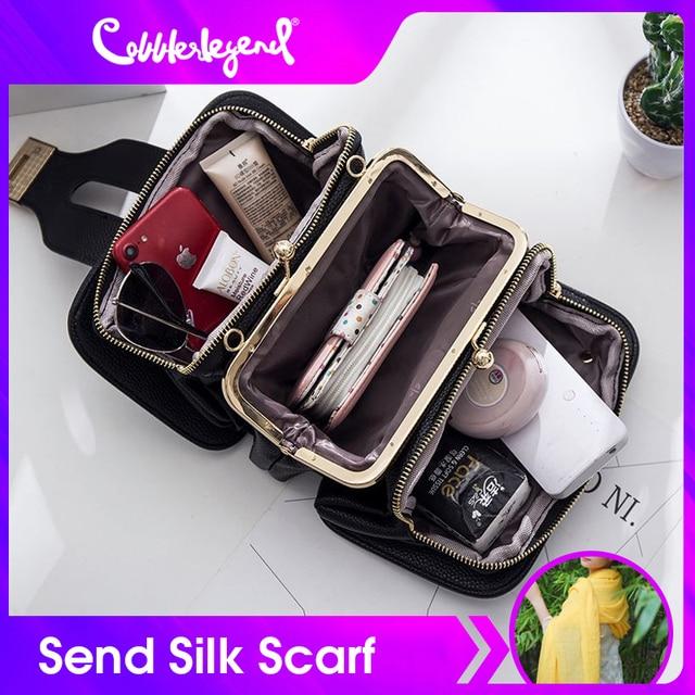 Kadın çantası zincir Crossbody omuzdan askili çanta Mini kadın telefon cebi zincir PU suni deri çanta küçük postacı çantası debriyaj 2019