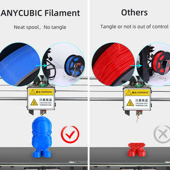ANYCUBIC PLA Filament 1.75mm Plastic For 3D Printer 1kg/Roll 6 Colors Optional Rubber Consumables Material for Printing