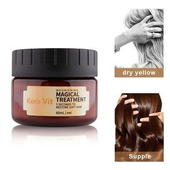 60ml HAIR REPAIR MASK for damaged hair care magical treatment VITAMINS MASK hair filler keratin cream salon essential oil