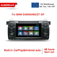 EU Stock 7 2 Din Car Stereo Radio With CarPlay & Android auto With Carplay IPS Screen Car Multimedia For BMW/E46/M3/MG/ZT GP