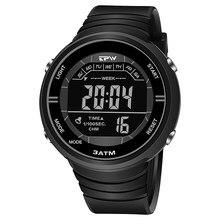Resistente a choques relógios ao ar livre esporte 3atm à prova dwaterproof água despertador canlender preto luz estrutura resistente