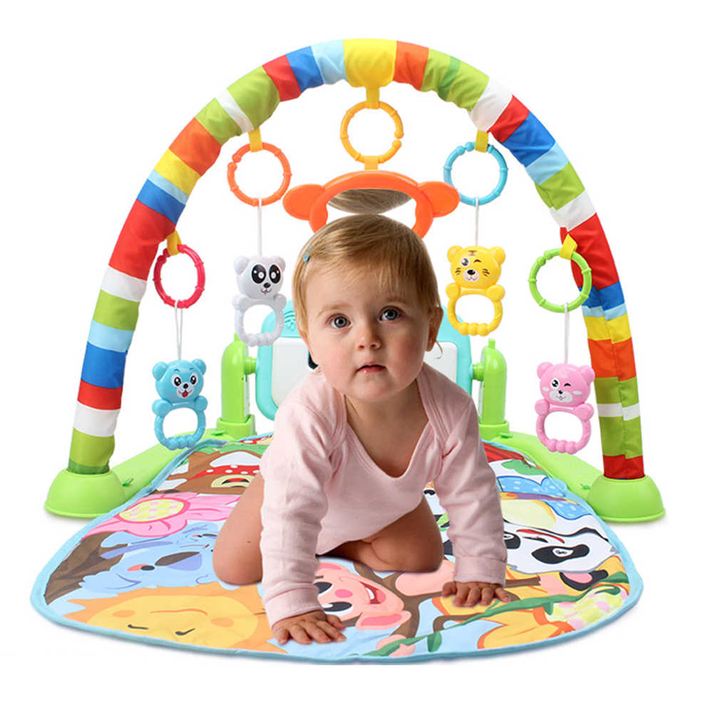 Baby Play Mat Educational Puzzle Carpet With Piano Keyboard Infant Animal Playmat Baby Gym Crawling Activity Mat Kids Rug Toys