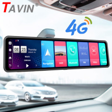 TAVIN 4G Specchio Dash Cam Android 8.1 Car dvr recorder Full HD 1080P Car Video Camera con ADAS di Navigazione GPS Dual Lens Macchina Fotografica