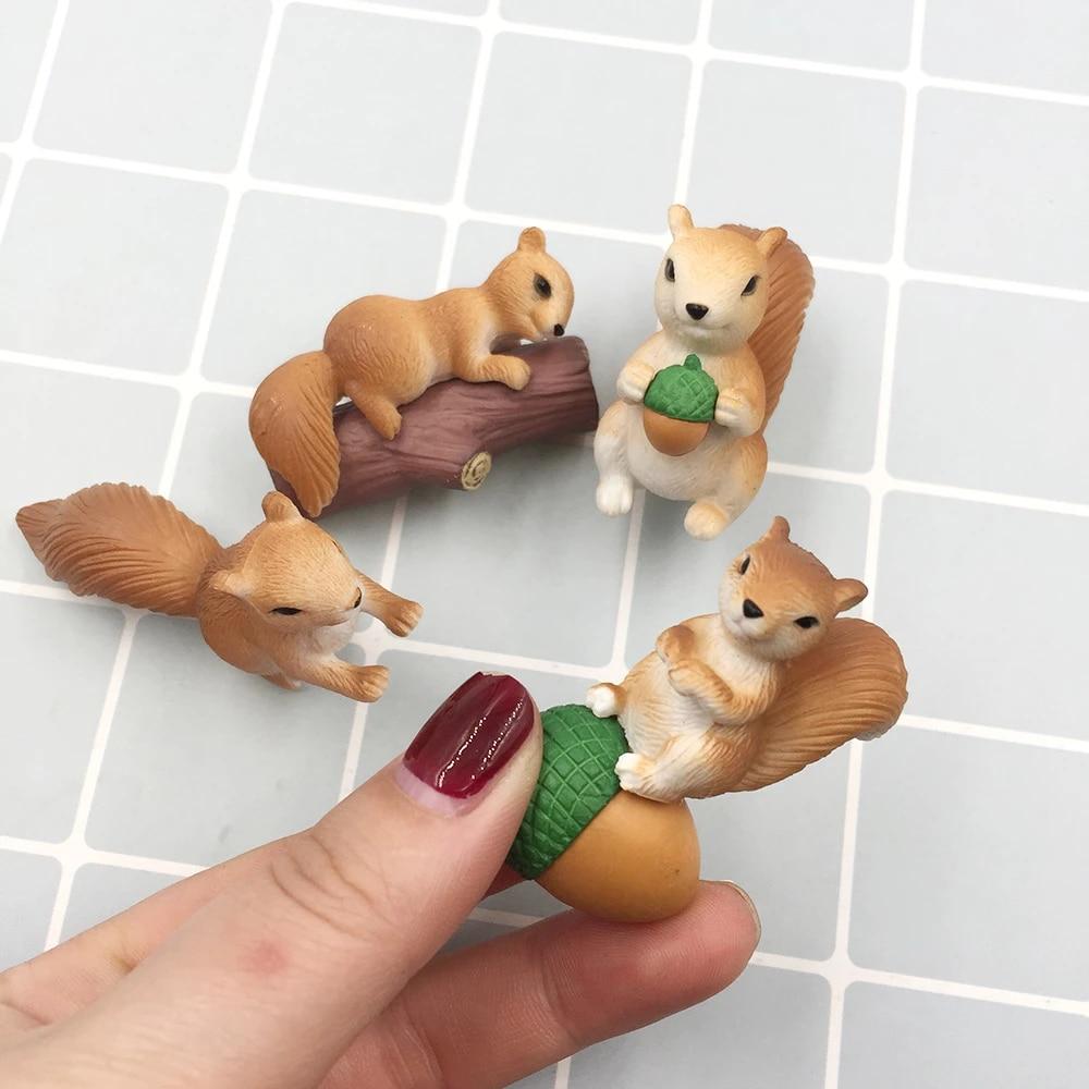 4pcs Miniature Dog Ornament Cute Animals Fairy Garden Craft Home Decor