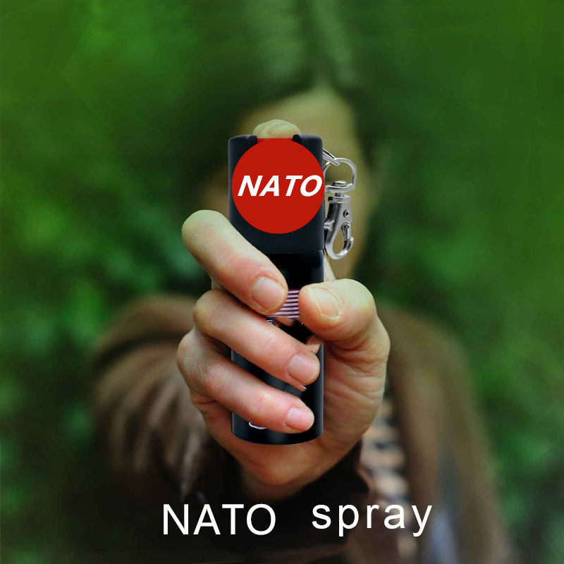 NATO Emergency Defense 2-IN-1 Sabre Spray - Polize Strength - Standalone Unit - Strong Smell Alarm Self-Defence Tool