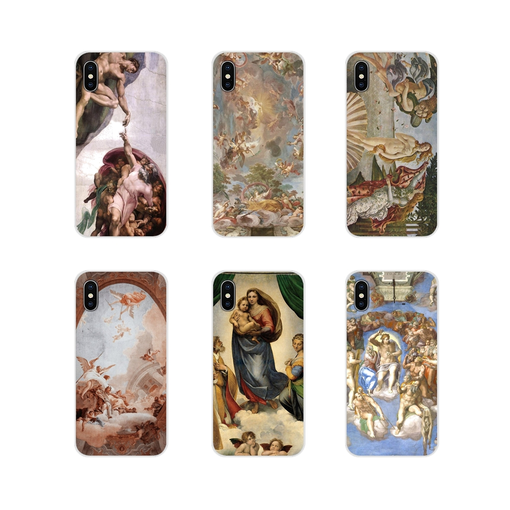 Soft Case The Creation of Adam Renaissance painting For Xiaomi Mi4 Mi5 Mi5S Mi6 Mi A1 A2 5X 6X 8 9 Lite SE Pro Mi Max Mix 2 3 2S