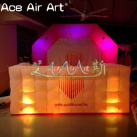 Customized free standing inflatable lighting arch shaped backdrop and pub bar counter table for amusement/outdoor revelry