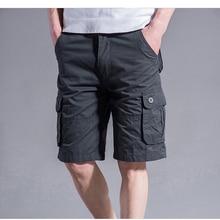 Cargo Shorts Men Summer Casual Mulit Pocket Shorts 2020 Men Joggers Shorts Trousers Men Breathable Big Tall 42 44 46 Large Size